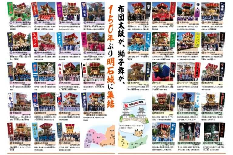 【明石市】布団太鼓が明石城に大集結!「あかし伝統夢まつり」が開催されます。